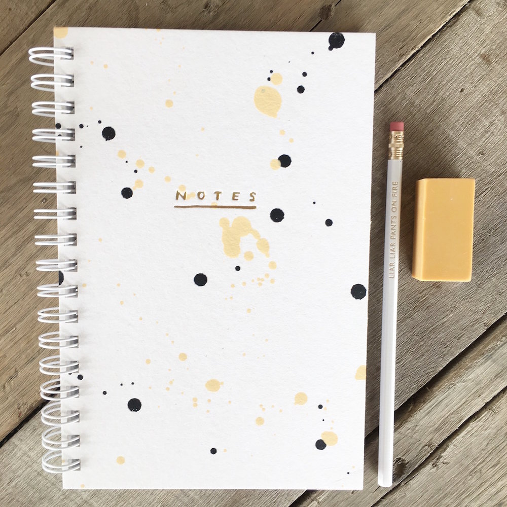 Drip Drip Painted Notebook