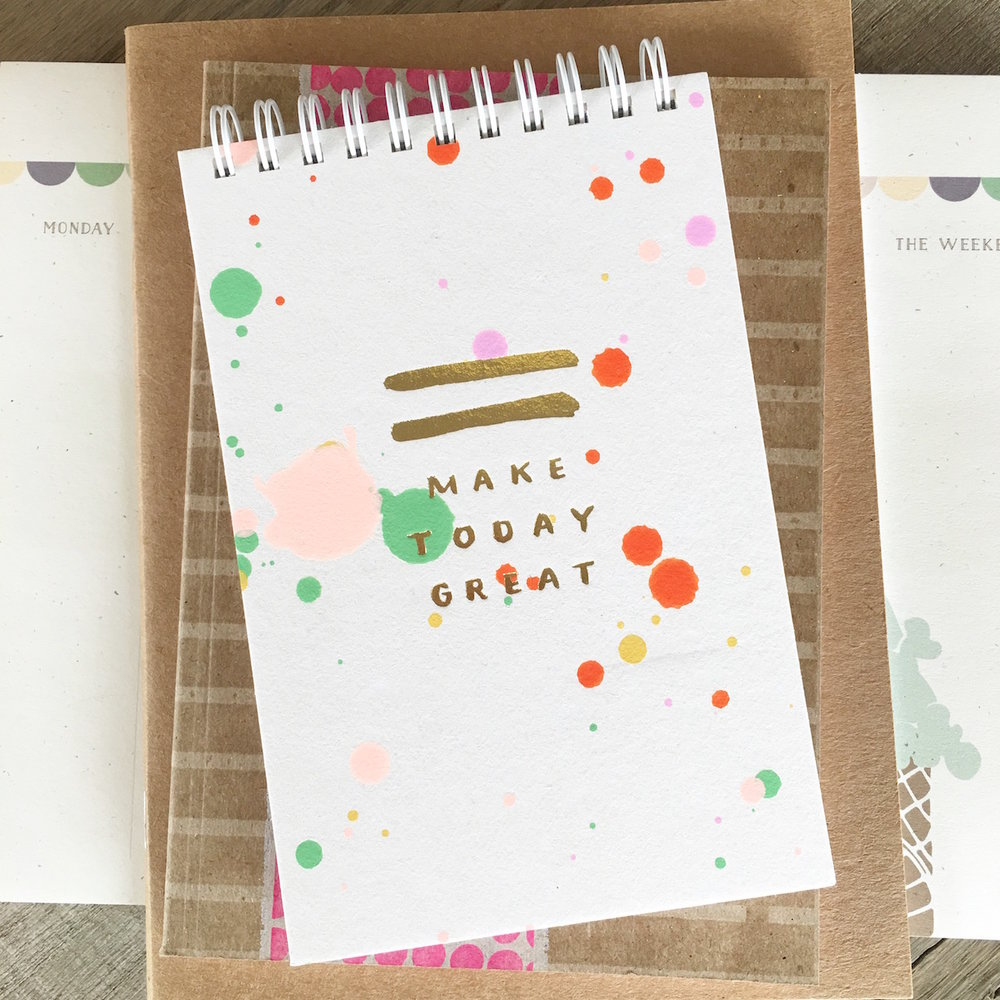 Make Today Great Candy Daily Jotter