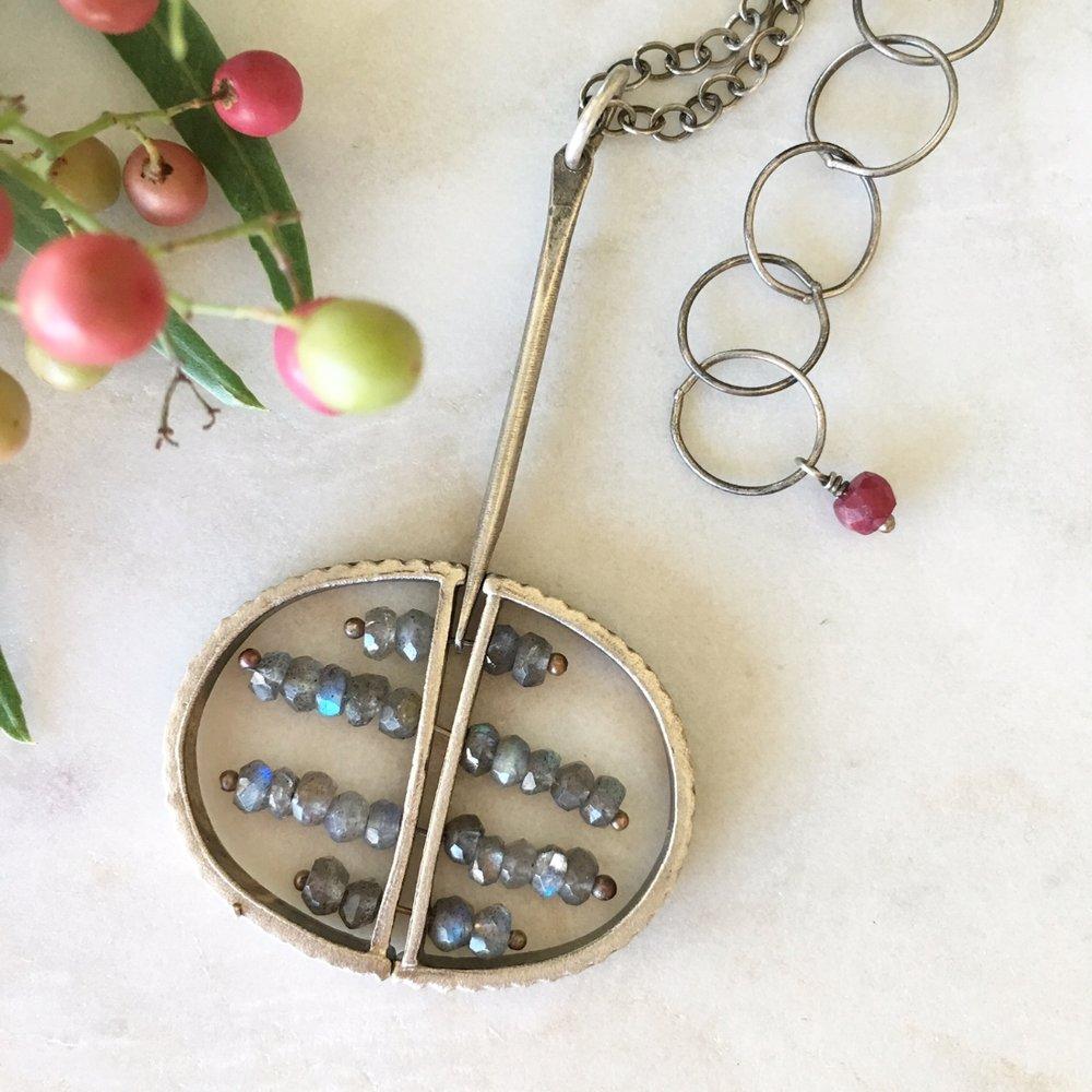 Full Circle Labradorite Necklace