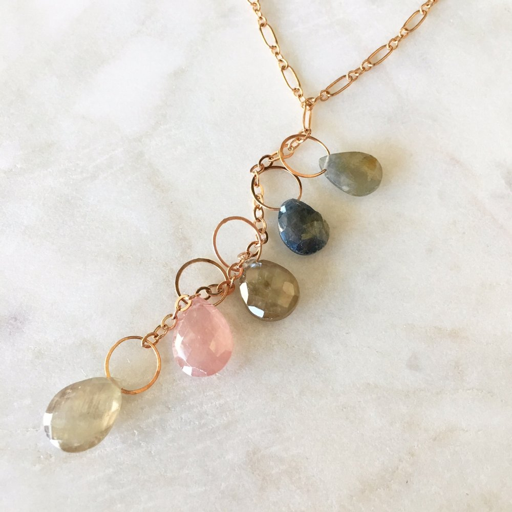 String of Sapphires Necklace