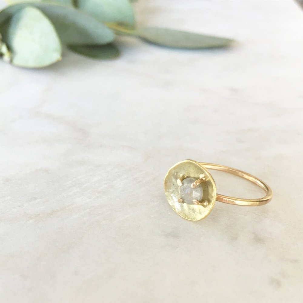 Diamond Dish Ring