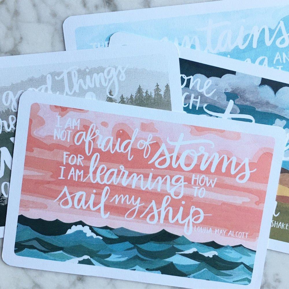 Scenic Postcards Set