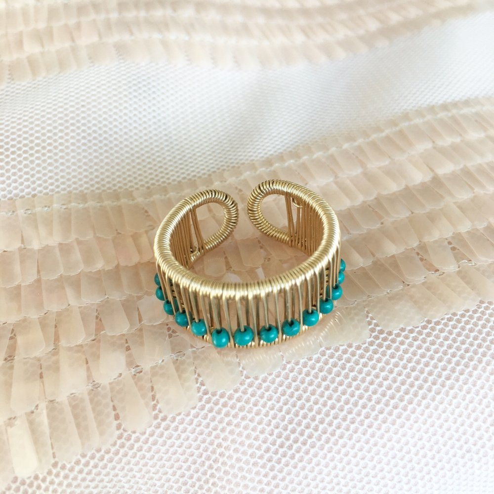 Turquoise Abacus Ring