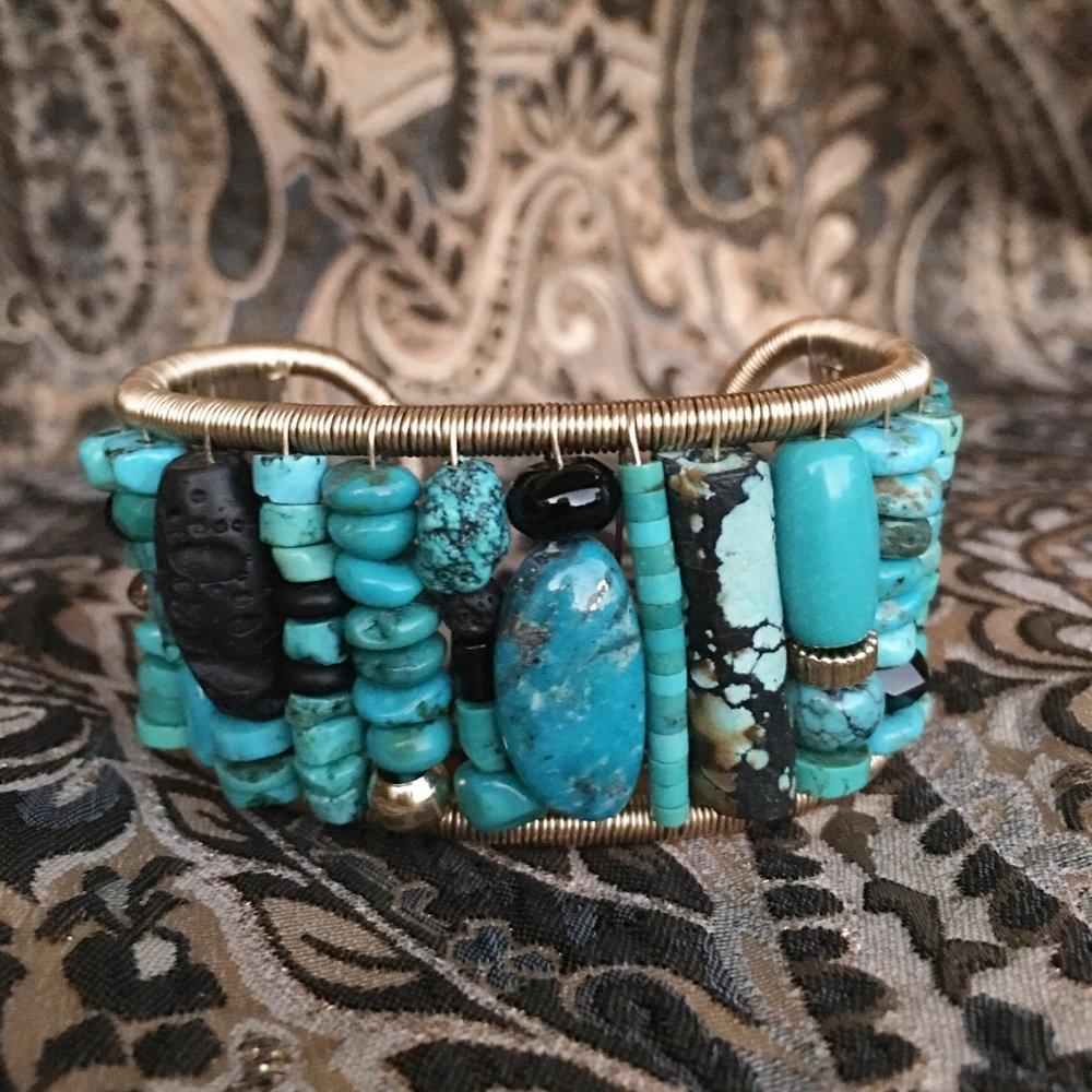 Turquoise Mosaic Cuff