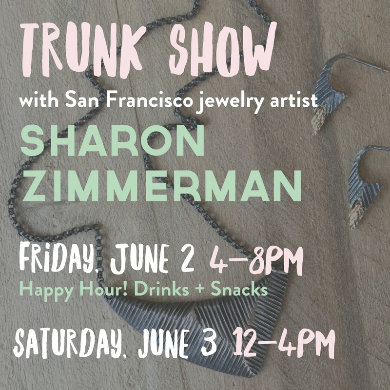 Handmade jewelry trunk show in Columbia, MO from Sharon Zimmerman