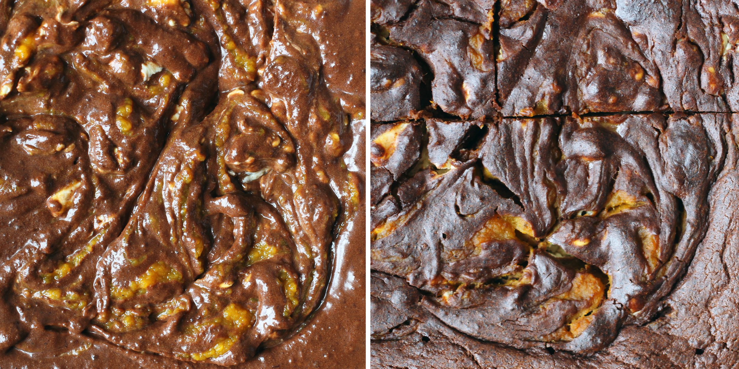 Pumpkin & Goat Cheese Brownies