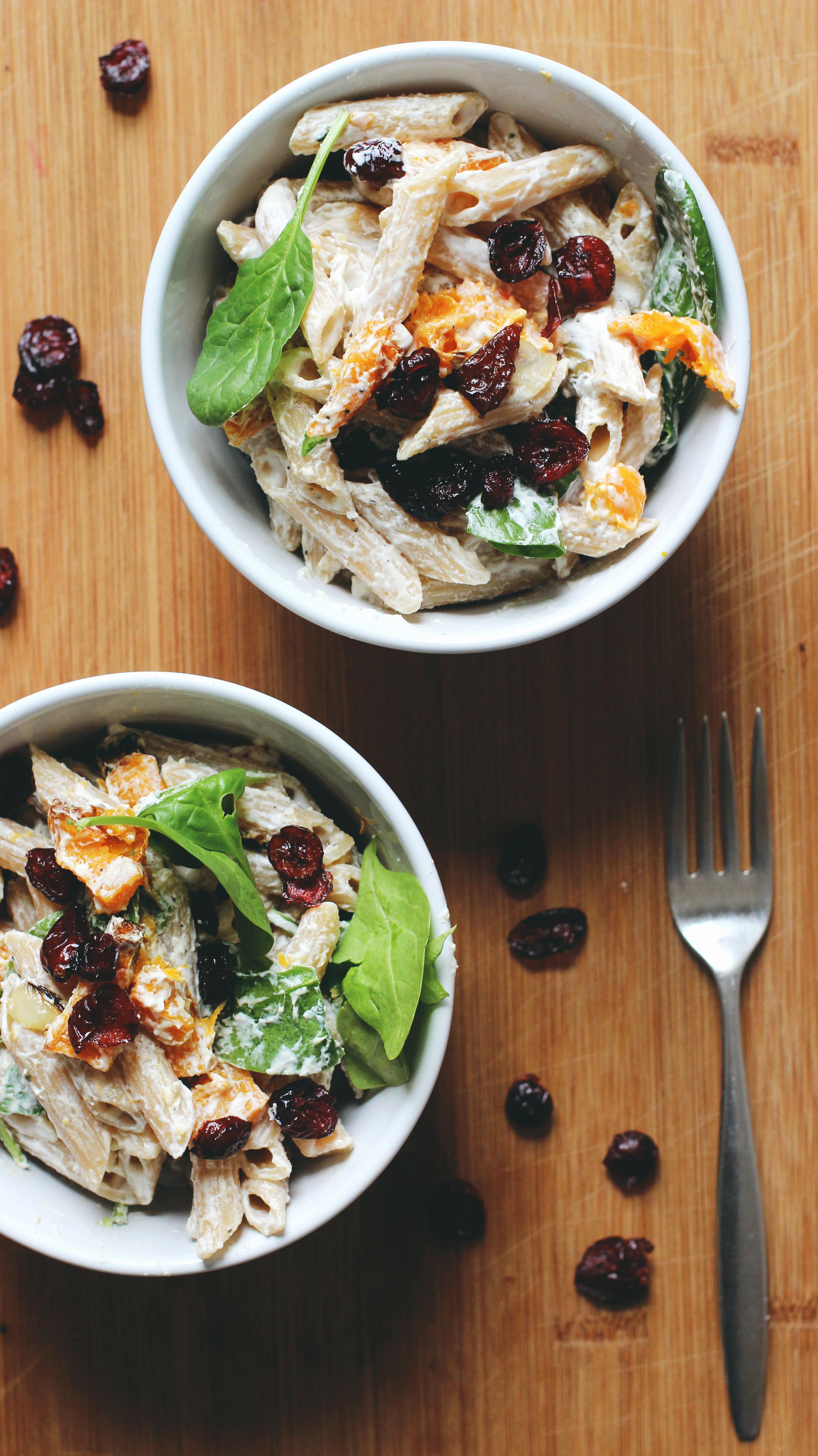 butternut squash and goat cheese pasta