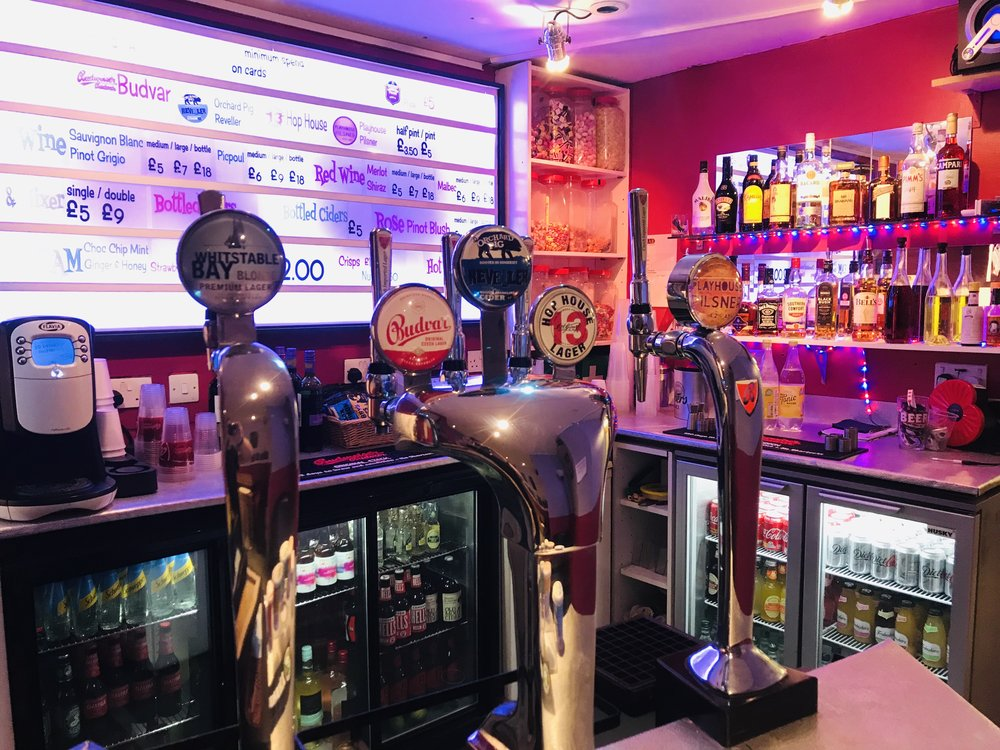 Enjoy a drink at the Stockwell Playhouse before. during or after the show. Or all three…….