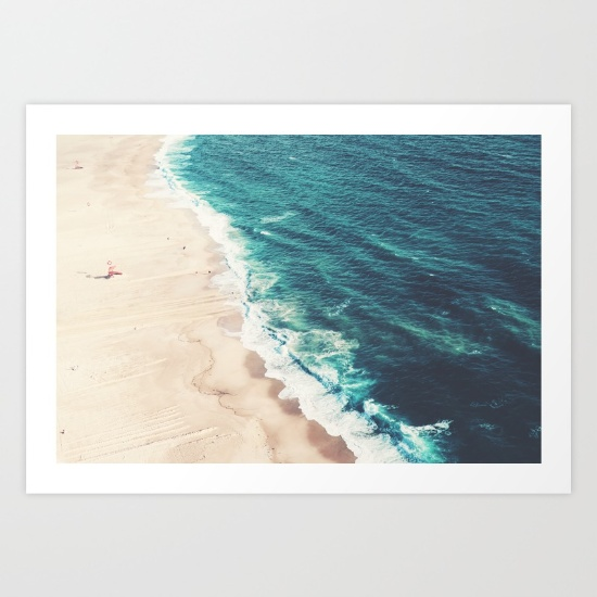 7. Beach Nazare Art Print by Ingrid Beddoes - $17.10 Gift someone a little glimpse into summer vacation for their walls.