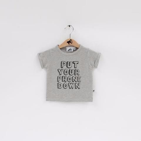 Friendly reminder via baby sized t-shirt.  Source