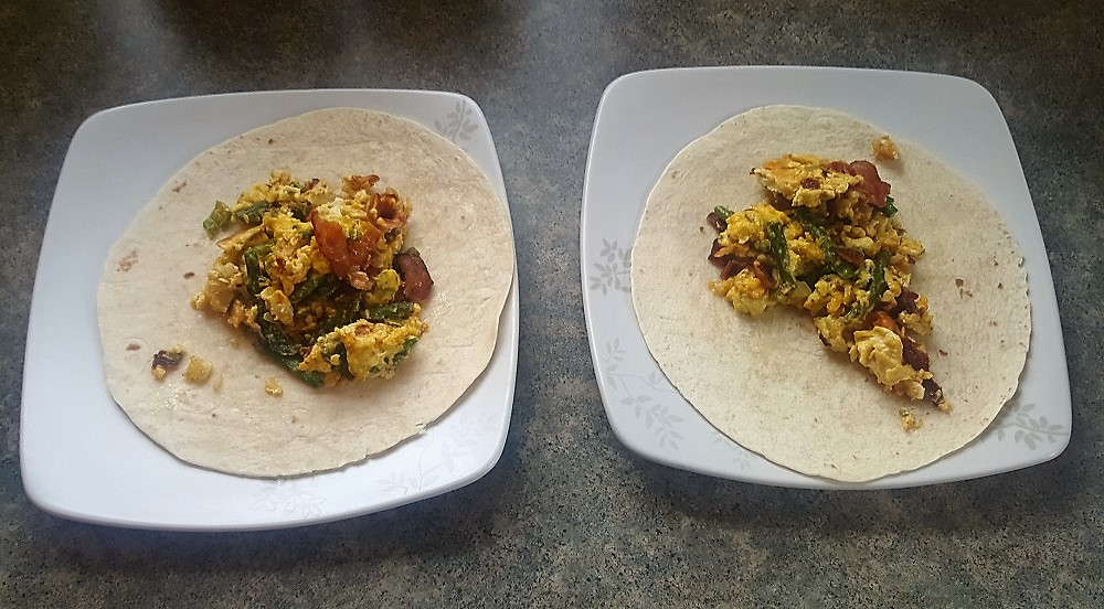 Tasty breakfast tacos