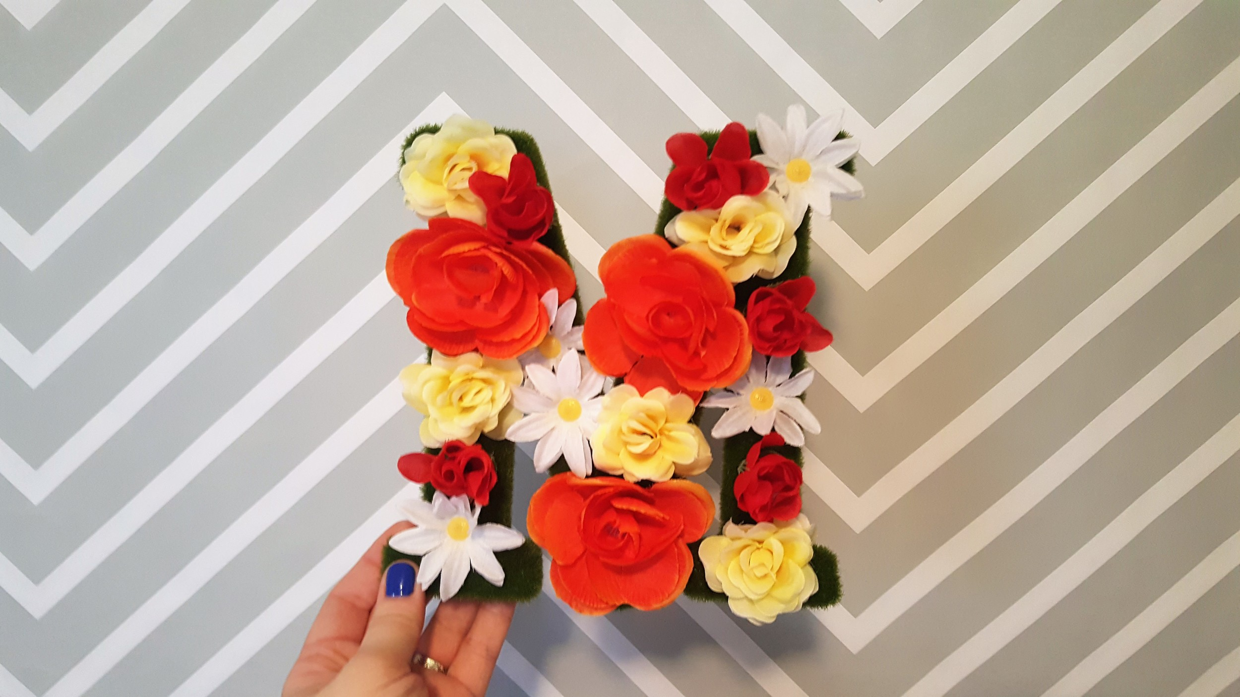 finished flower letter