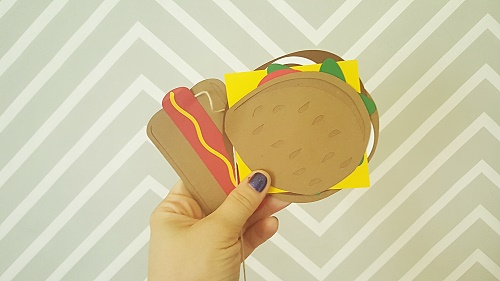 hamburger hot dog garland