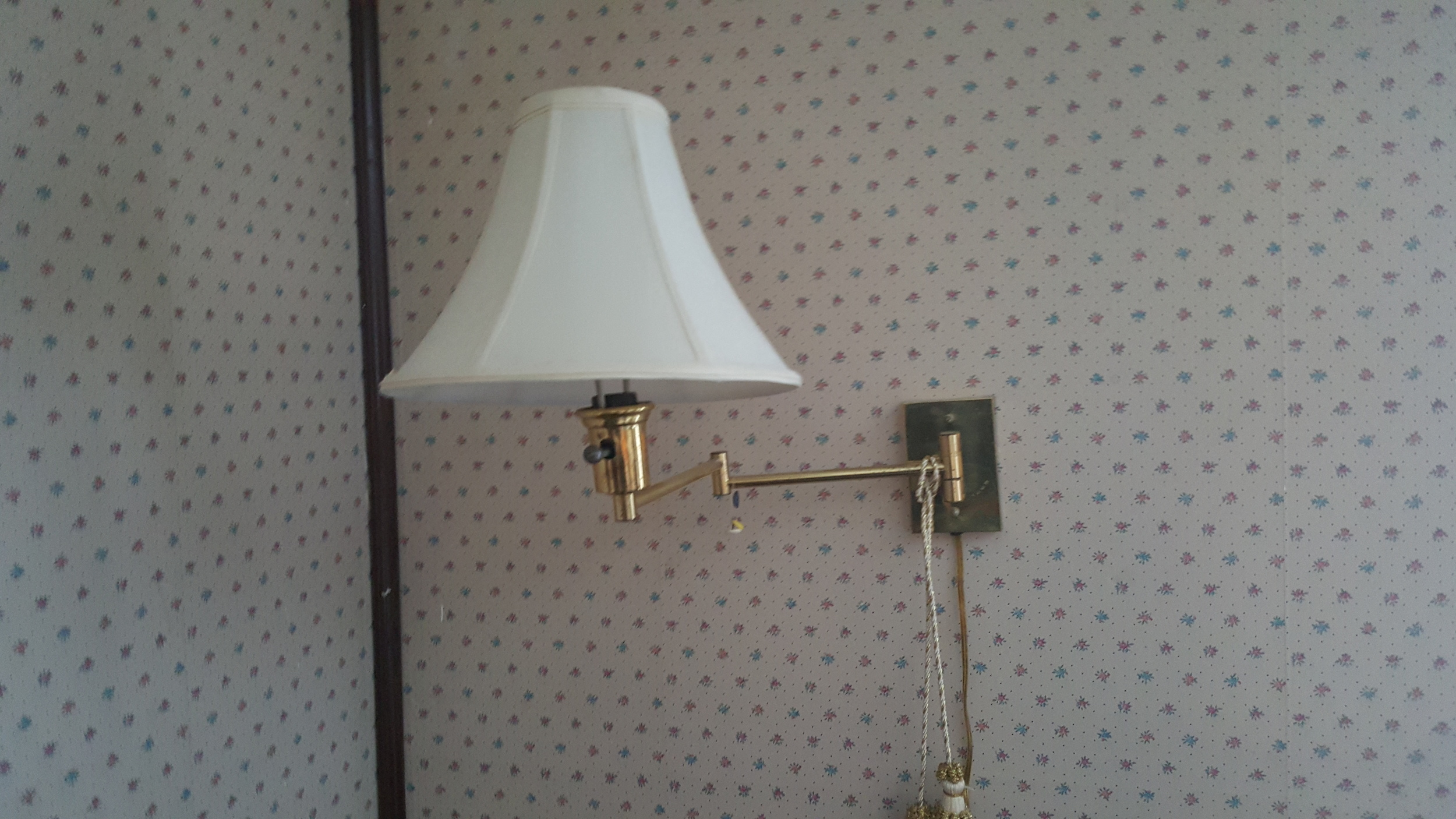 DIY wall lamp makeover before