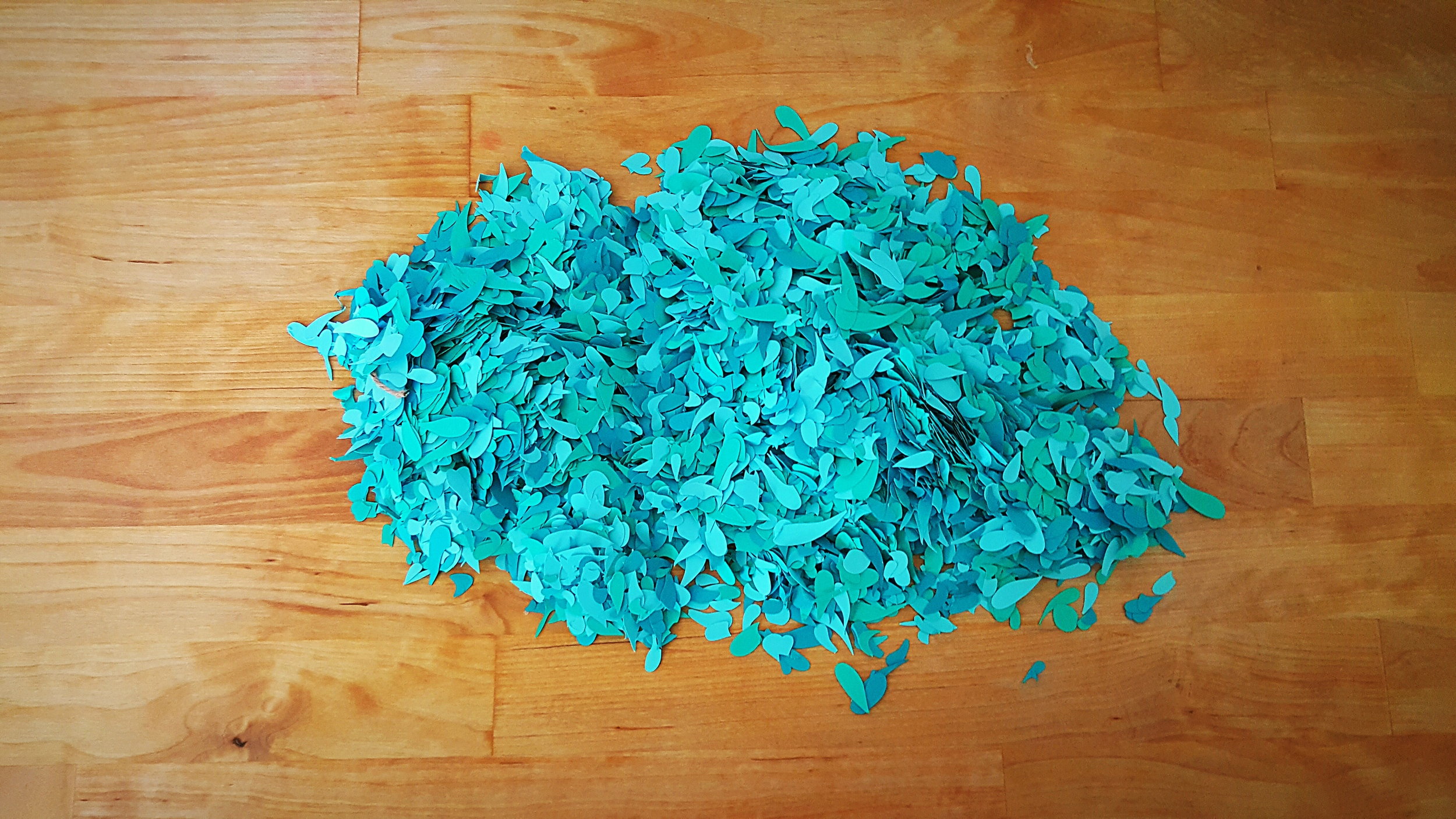 whimsy floral scrap confetti blues