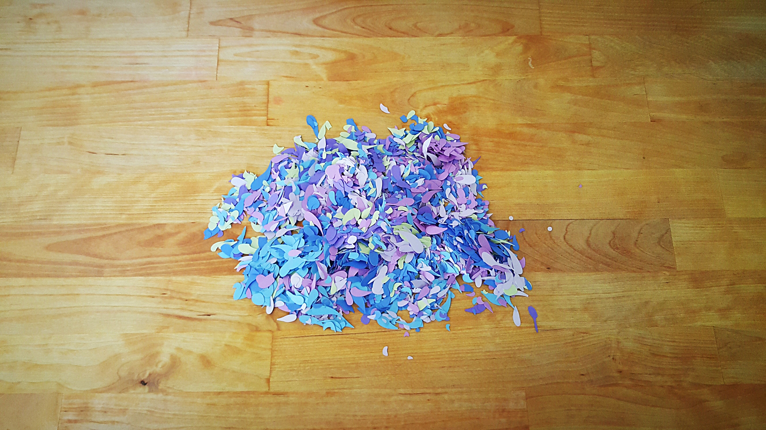 whimsy floral scrap confetti purple hydrangea