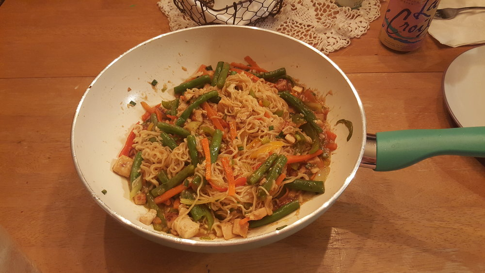 The beautiful lil' stir fry I made for dinner last night.