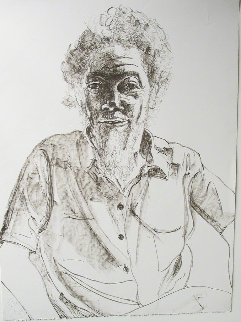 Benny Andrews, 1978, Lithograph by Alice Neel