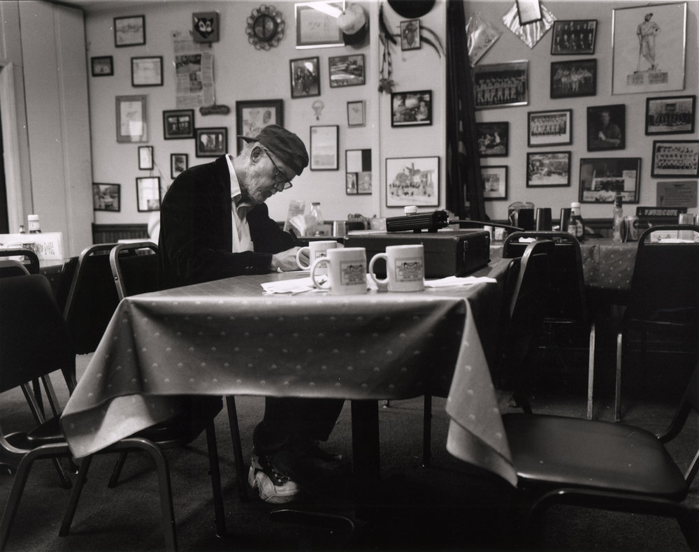 Photo of Gene Merritt in Watkins Grill by Mario Del Curto