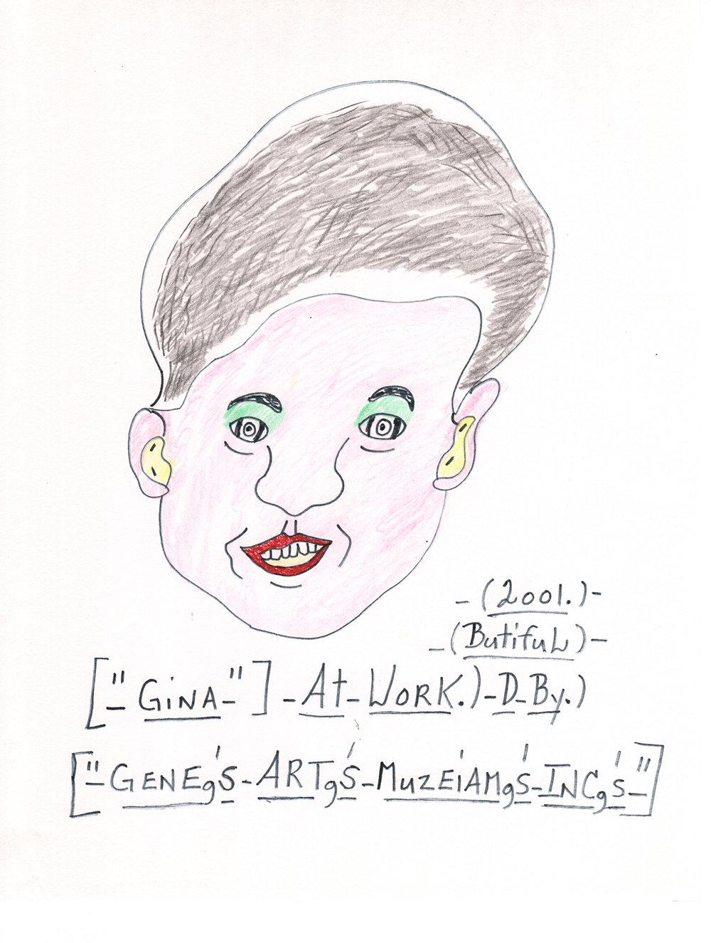 Gina at Work by Gene Merritt