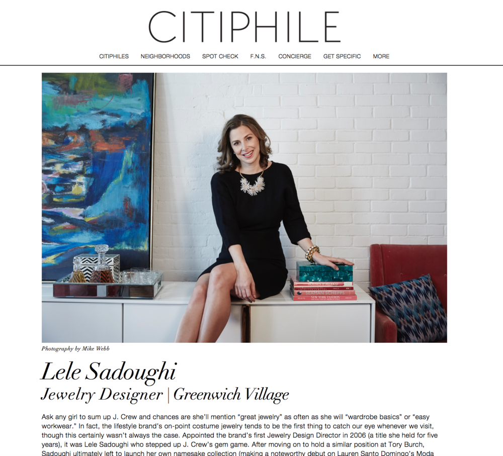 Press: The Citiphile   Featuring:  Lele Sadoughi