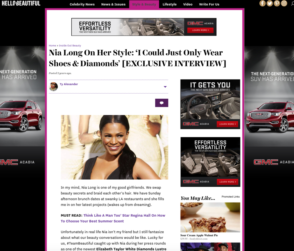 Press: Hello Beautiful   Featuring: Nia Long