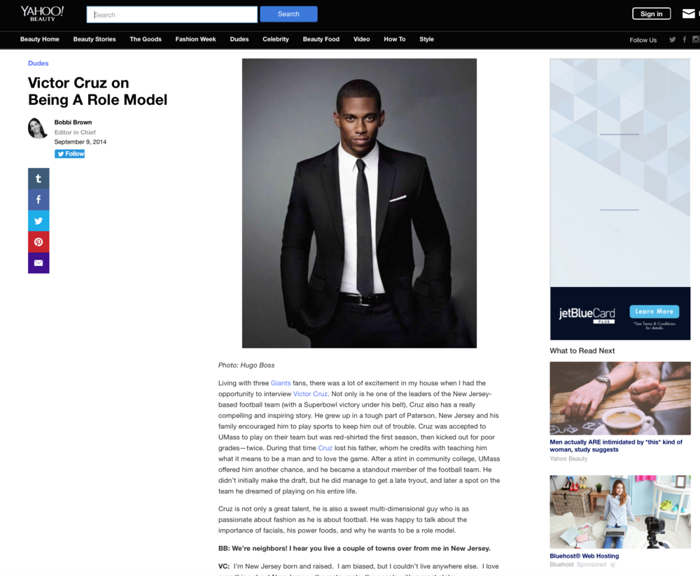 Press:Yahoo   Featuring: Victor Cruz