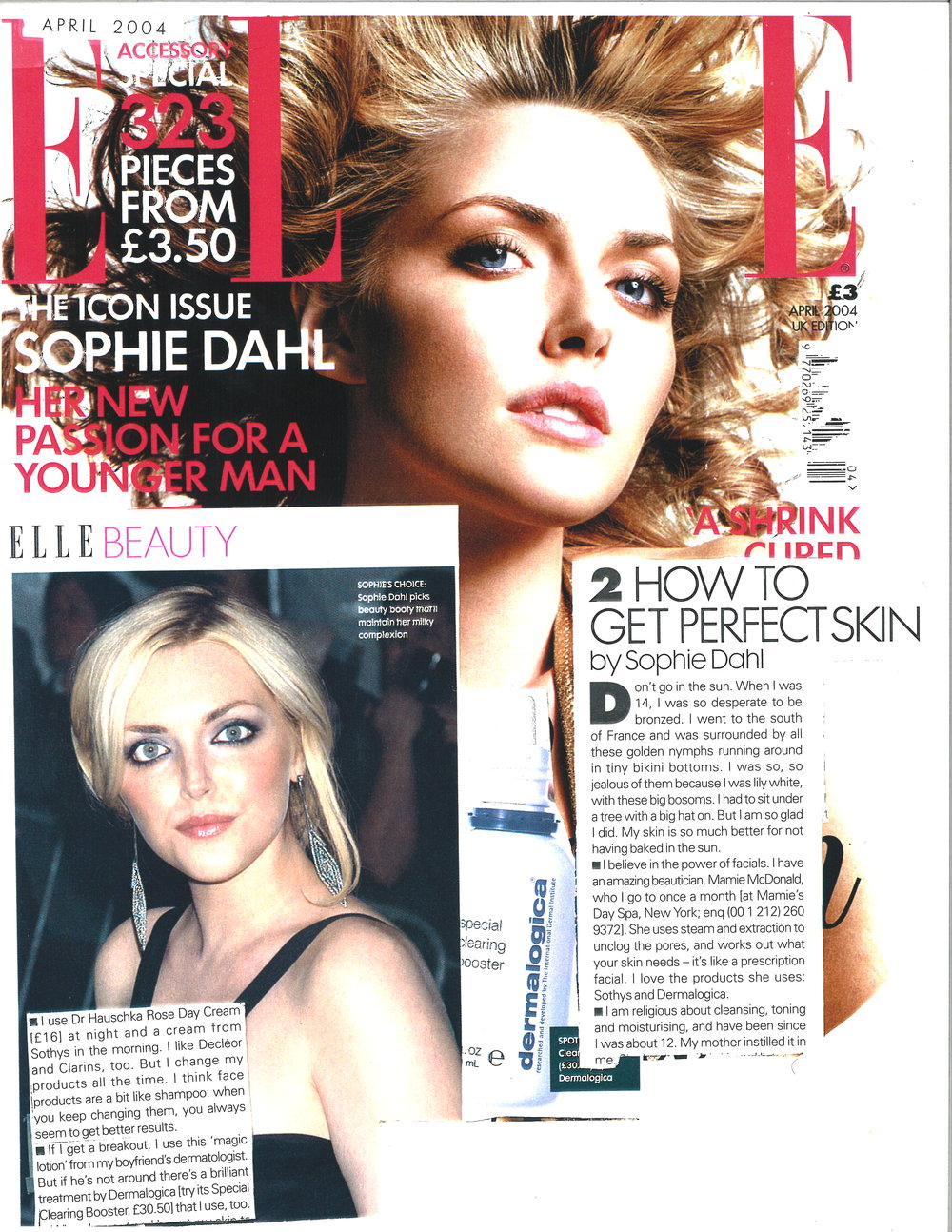 Press: Elle Magazine   Featuring  : Sophie Dahl