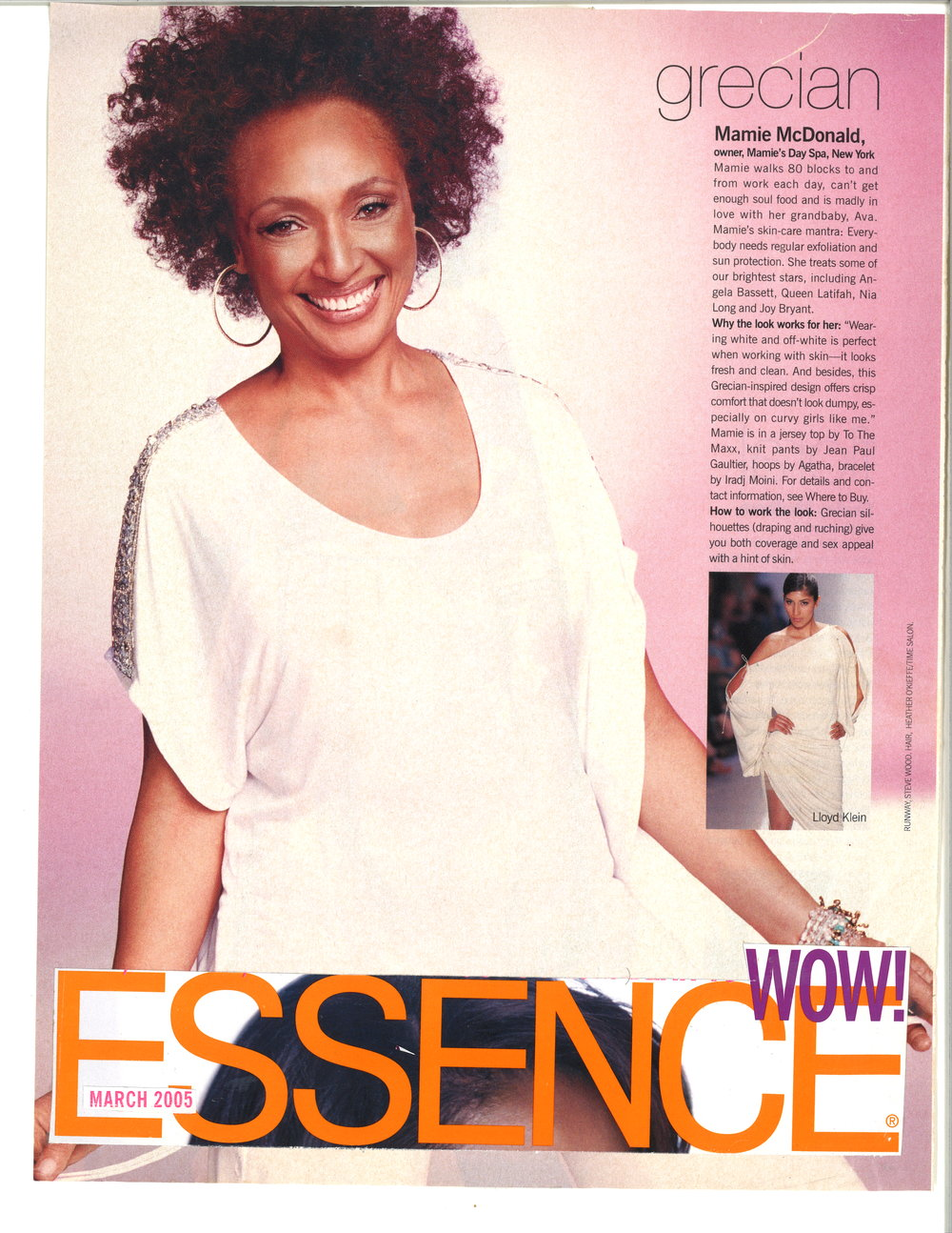 Press: Essence Magazine   Featuring  : Mamie