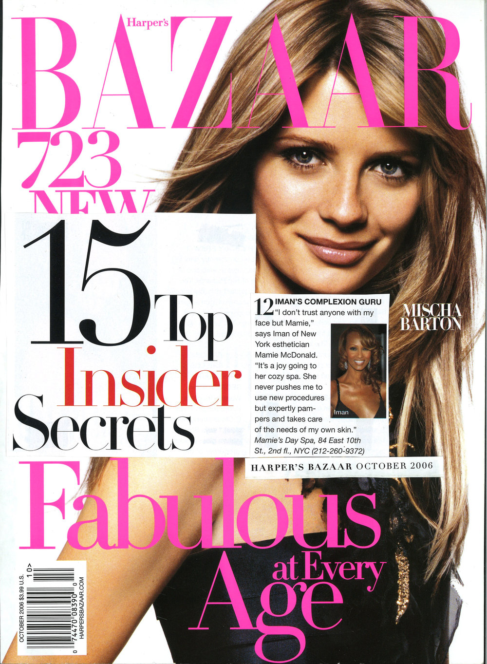 Press: Harper's Bazaar Magazine   Featuring  : Iman