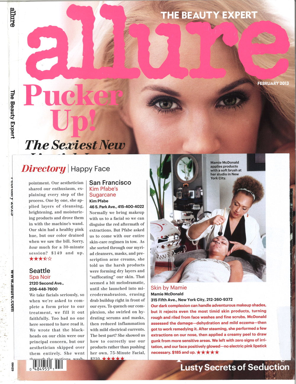 Press: Allure Magazine Featuring: Mamie
