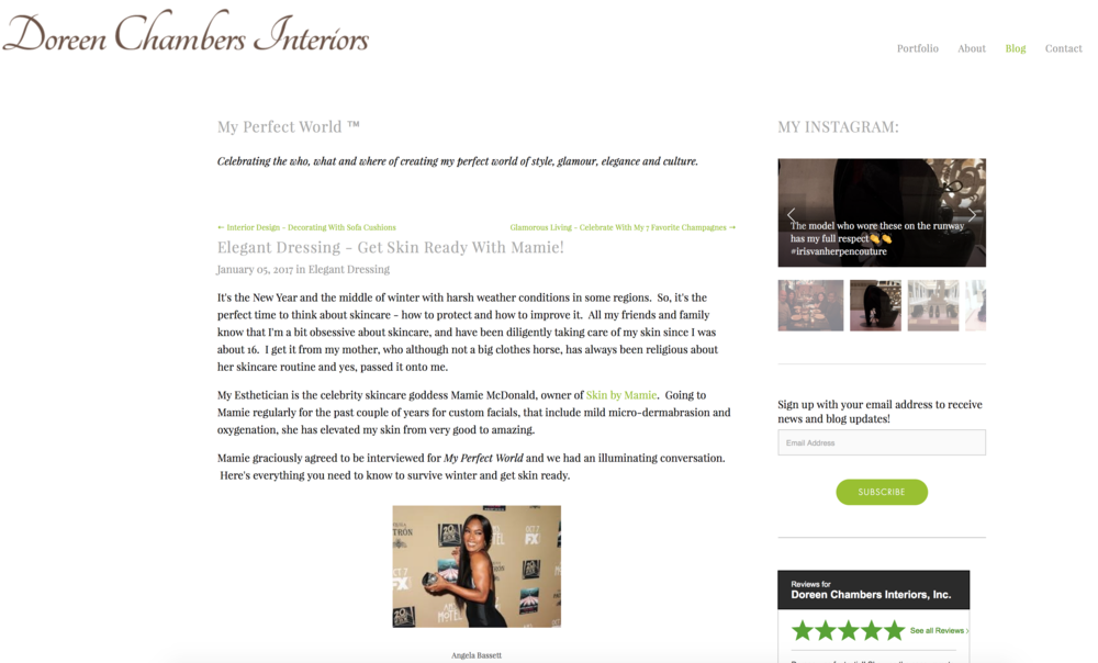 Press: Doreen Chambers Interiors Featuring: Mamie