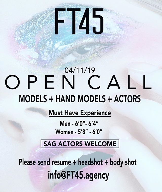 We want you! #modelsearch #actorsearch #handmodelsearch #SAGsearch