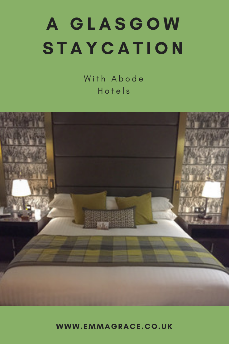 The gorgeous Abode Hotel in Glasgow