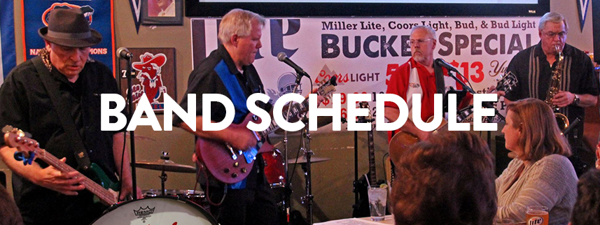 Click here to check out our band schedule!