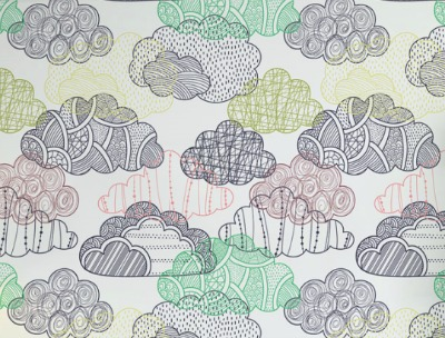 cloud wallpaper, nursery