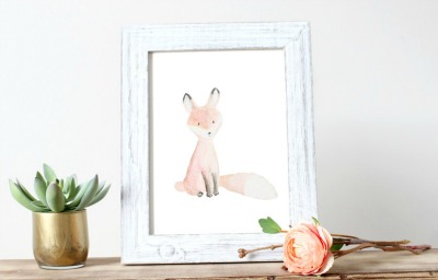 fox print for nursery