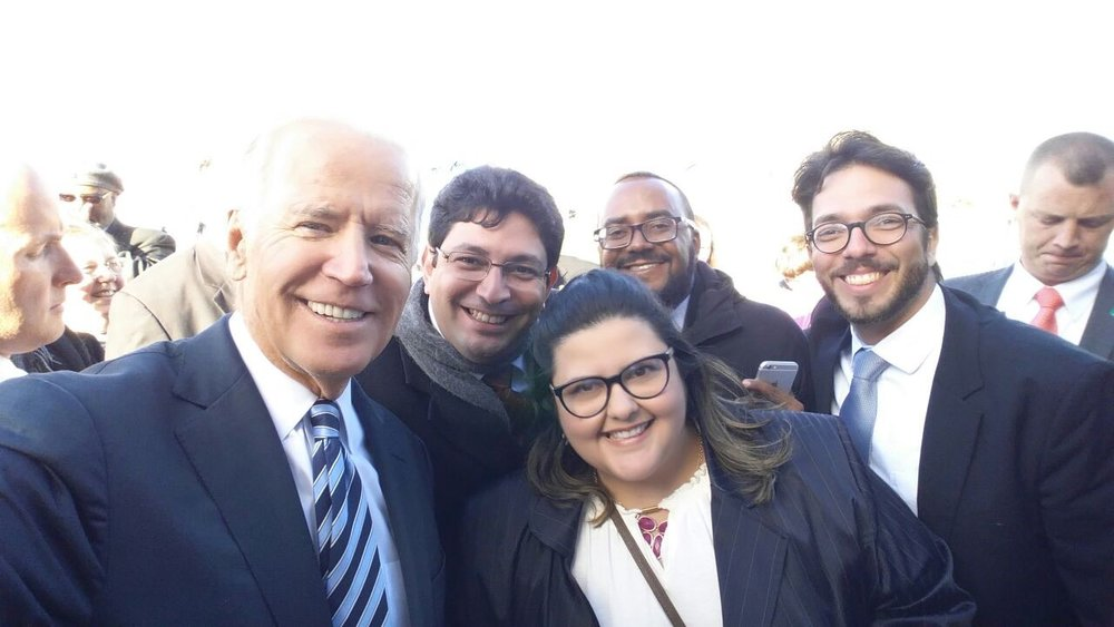 Fall 2016 GET participants at the University of Akron pose with Vice President Joe Biden!