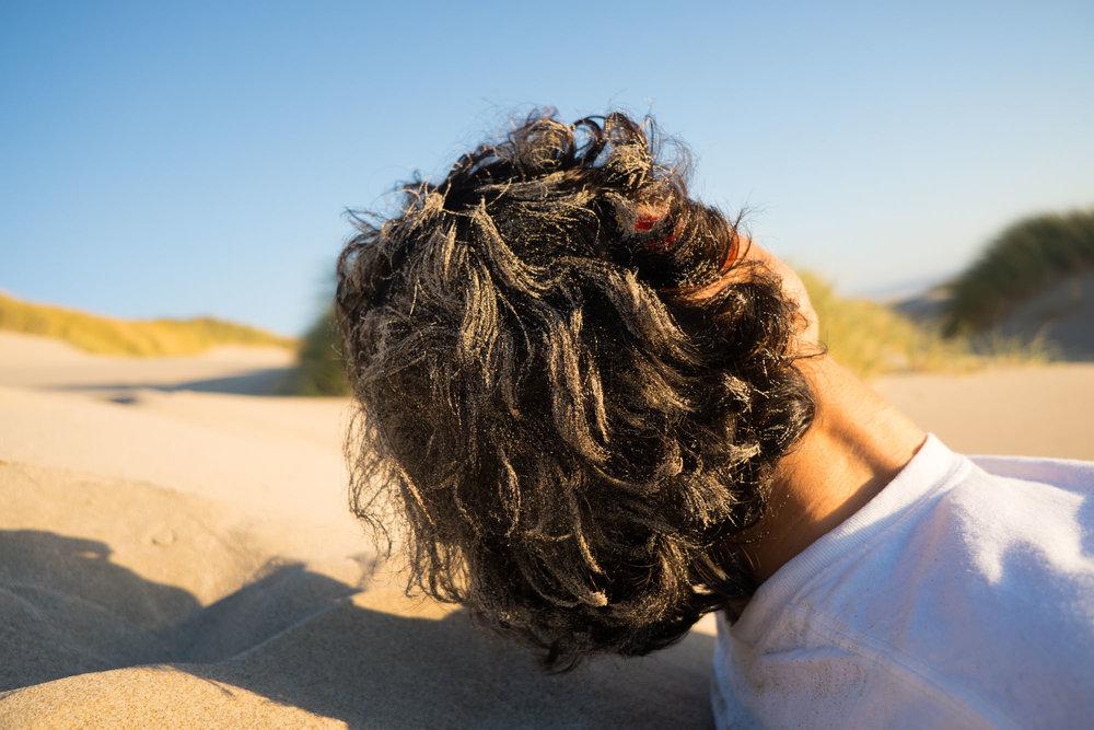 Sandy hair!