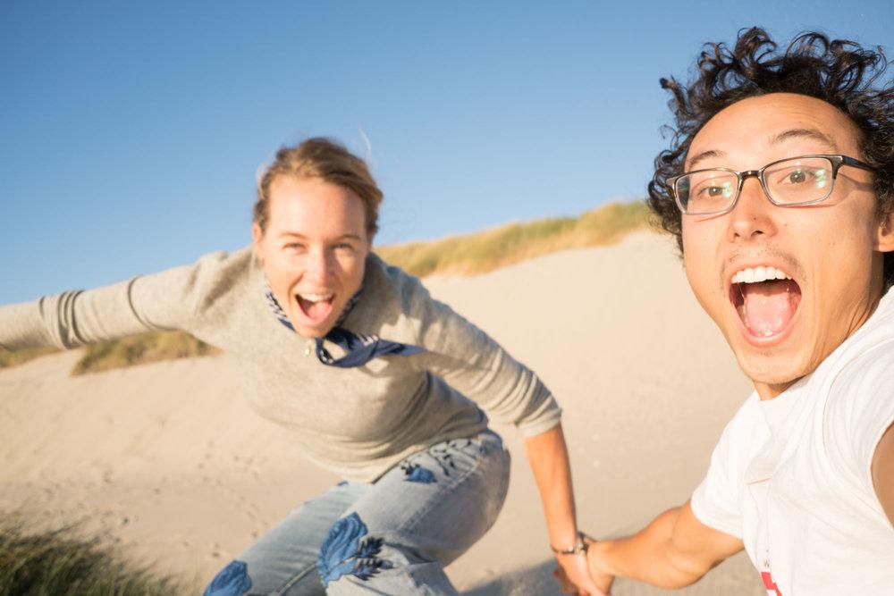 Sand dune jump