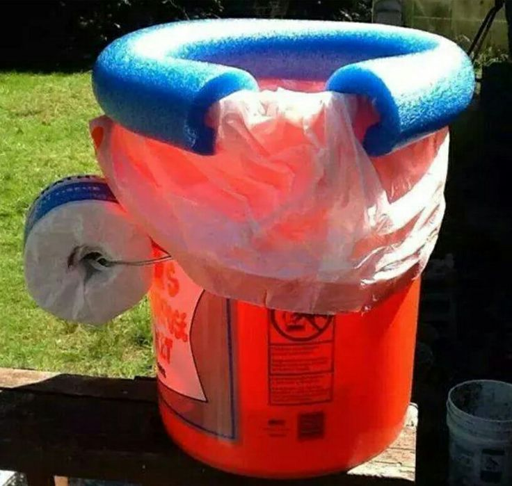 The creativity is through the roof on this 5 gallon bucket potty