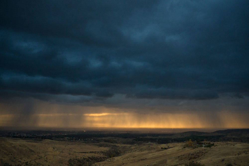 Storm rolling over Boise