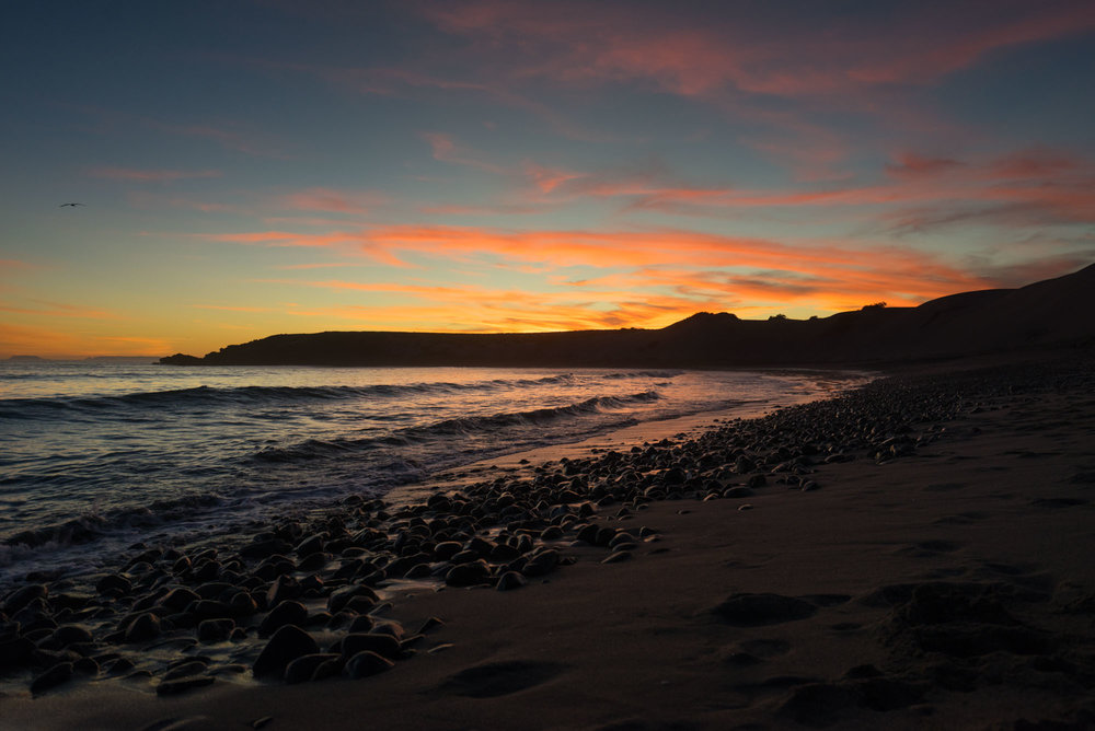 Sunset at El Cardon, One of the Seven Sisters, Baja California
