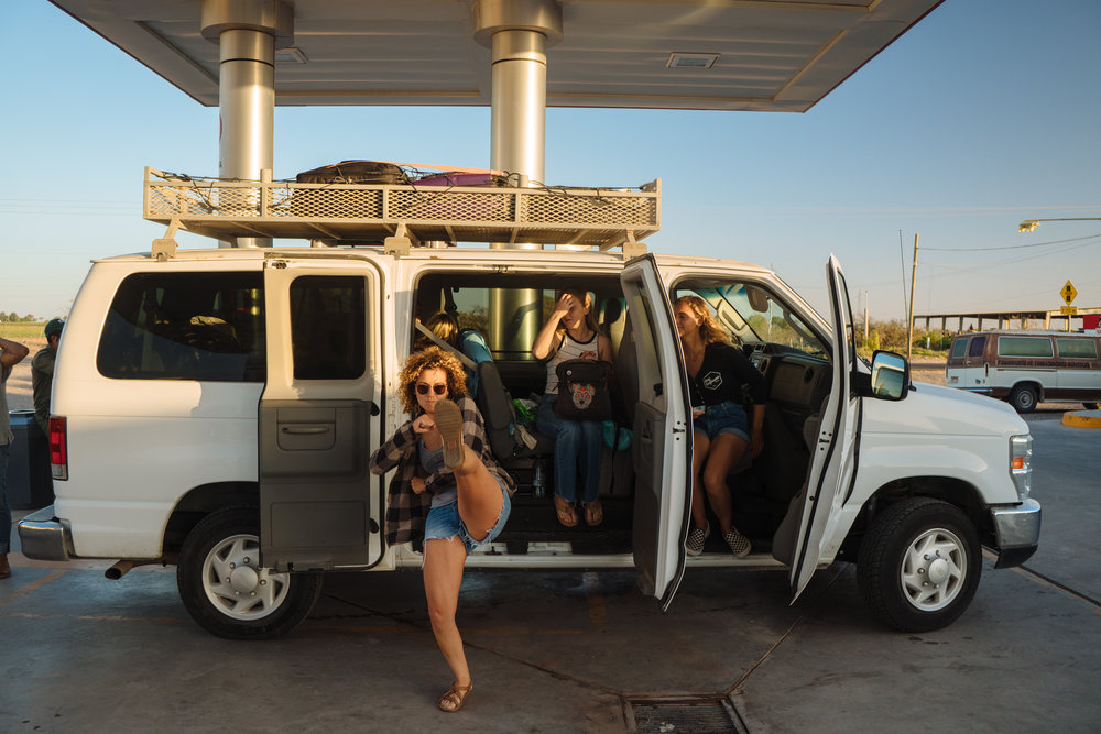 Van load of ladies headed to Scorpion Bay