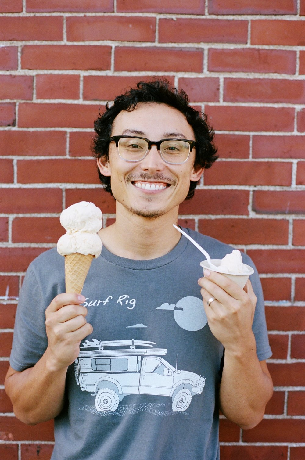 Owen enjoying ice cream