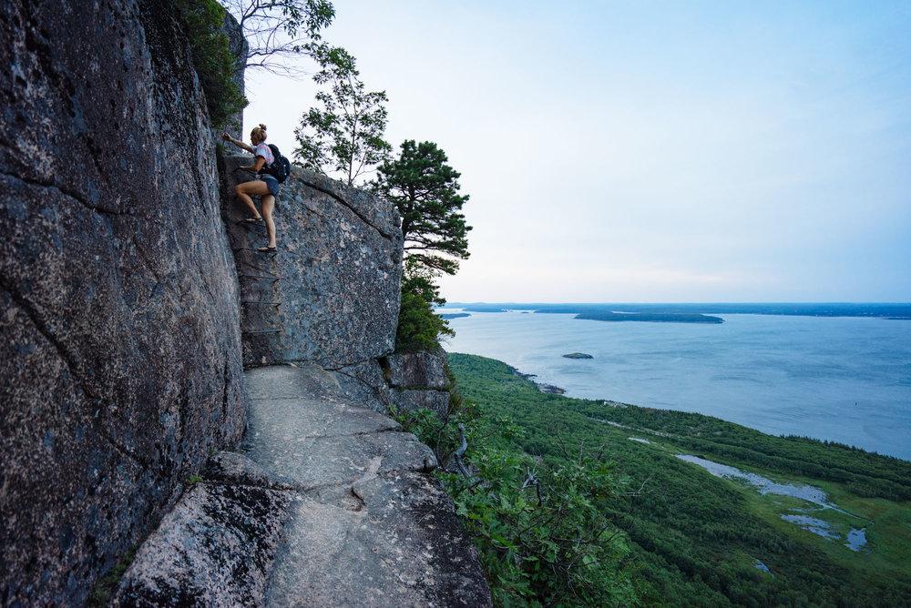 Ladder climb on Precipice Trail