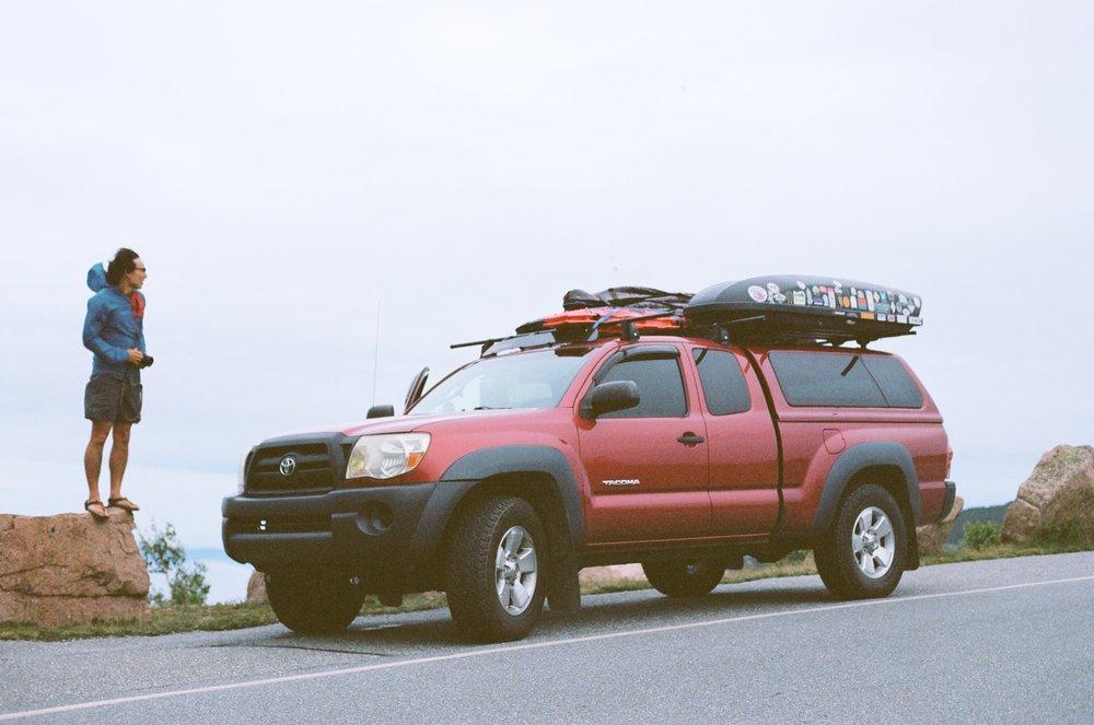 Owen on Cadillac Mountain, 35 mm film