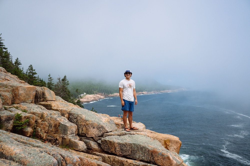 The fog rolling in near Otter Point, Acadia NP