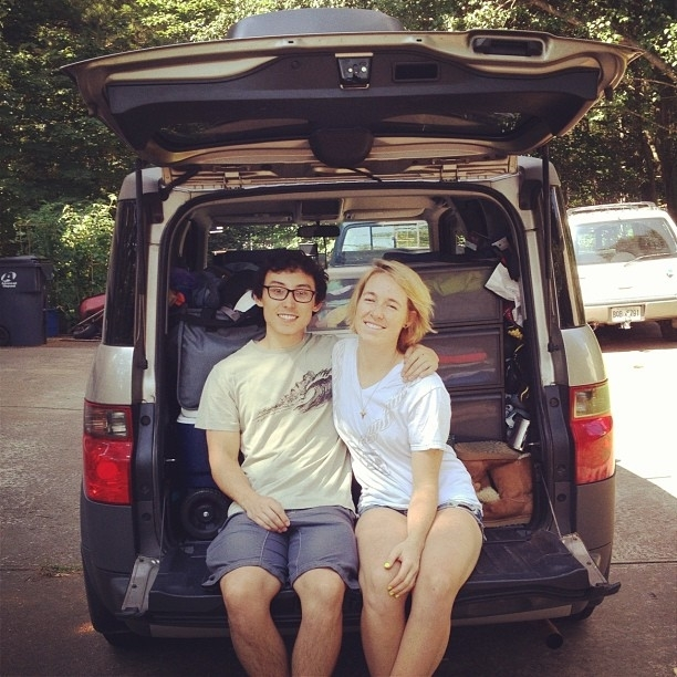 June 16th 2012 - lil' Mak & Owen about to hit the road (check out the sweet Instagram filter)