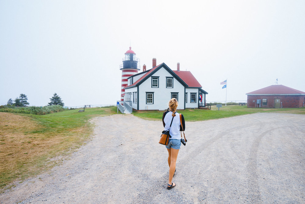 MAK heading to the West Quoddy Head Lighthouse